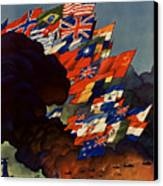The United Nations Fight For Freedom Canvas Print by War Is Hell Store