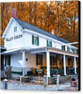 The Valley Green Inn In Autumn Canvas Print by Bill Cannon