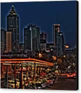 The Varsity Atlanta Canvas Print by Corky Willis Atlanta Photography