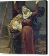 The Virgin At The Foot Of The Cross Canvas Print by Jean Joseph Weerts