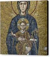 The Virgin Mary Holds The Child Christ On Her Lap Canvas Print by Ayhan Altun