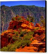 The Wedding Rock In Sedona Canvas Print by David Patterson