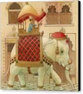 The White Elephant 01 Canvas Print by Kestutis Kasparavicius