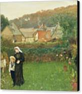 The Widow Canvas Print by Charles Napier Hemy