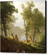 The Wolf River - Kansas Canvas Print by Albert Bierstadt