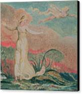 Thel In The Vale Of Har Canvas Print by William Blake