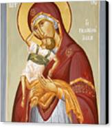Theotokos Pelagonitisa Canvas Print by Julia Bridget Hayes