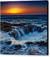 Thor's Well Canvas Print by Rick Berk