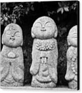 Three Happy Buddhas Canvas Print by Dean Harte