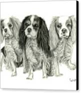 Three Musketeers Canvas Print by Dawnstarstudios