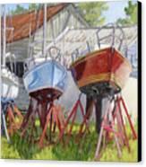 Three Up Canvas Print by L Diane Johnson
