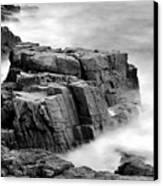 Thunder Along The Acadia Coastline - No 1 Canvas Print by Thomas Schoeller