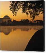 Tidal Basin And Jefferson Memorial Canvas Print by Kenneth Garrett