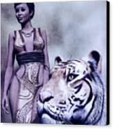 Tigress Canvas Print by Maynard Ellis