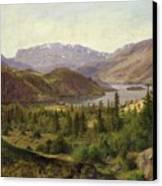 Tile Fjord Canvas Print by Louis Gurlitt