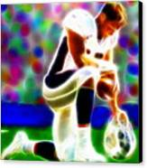 Tim Tebow Magical Tebowing 2 Canvas Print by Paul Van Scott
