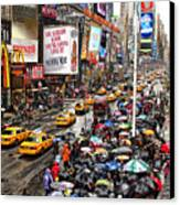 Times Square 1 Canvas Print by Andrew Fare