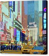 Times Square New York Canvas Print by Russ Harris