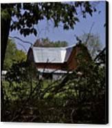 Tin Roofed Barn Canvas Print by Richard Gregurich