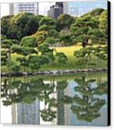 Tokyo Trees Reflection Canvas Print by Carol Groenen