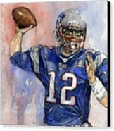 Tom Brady Canvas Print by Michael  Pattison