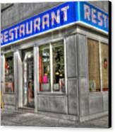 Tom's Restaurant Of Seinfeld Fame Canvas Print by Randy Aveille