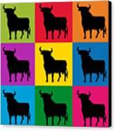 Toro Pop Art Canvas Print by Michael Tompsett