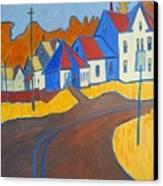 Town Center Plaistow Nh Canvas Print by Debra Robinson