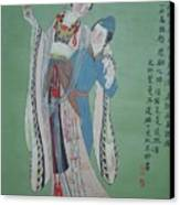 Tr 004 Hightest-ranking Imperia Concubine Of Temulentia Canvas Print by Ling Wang