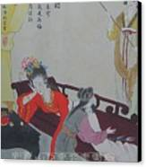 Tr014 Highest Ranking Imperia Concubine Of Drunk Canvas Print by Bei Wang