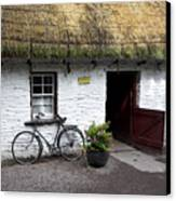 Traditional Thatch Roof Cottage Ireland Canvas Print by Pierre Leclerc Photography