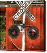 Train - Yard - Railroad Crossing Canvas Print by Mike Savad