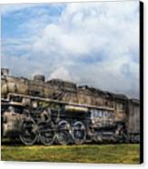 Train - Engine - Nickel Plate Road Canvas Print by Mike Savad