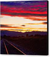Train Track Sunset Canvas Print by James BO  Insogna