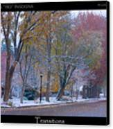 Transitions Autumn To Winter Snow Poster Canvas Print by James BO  Insogna