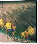 Travellers Surprised By Rain Canvas Print by Pg Reproductions