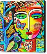 Tree Of Life Paradise Goddess Canvas Print by Sandra Silberzweig