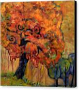 Tree Of Wisdom Canvas Print by Blenda Studio