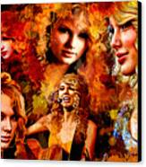 Tribute To Taylor Swift Canvas Print by Alex Martoni