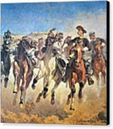 Troopers Moving Canvas Print by Frederic Remington