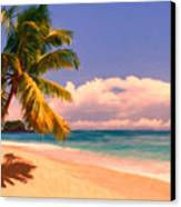 Tropical Island 6 - Painterly Canvas Print by Wingsdomain Art and Photography