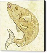 Trout Fish Jumping Canvas Print by Aloysius Patrimonio
