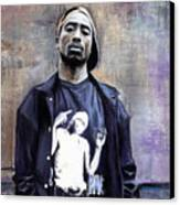 Tupac Shakur Canvas Print by Raymond L Warfield jr
