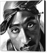 Tupac Shakur Canvas Print by Ylli Haruni