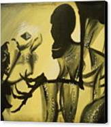 Turned It Thrice In His Hand Canvas Print by Lisa Leeman
