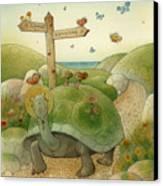Turtle And Rabbit01 Canvas Print by Kestutis Kasparavicius