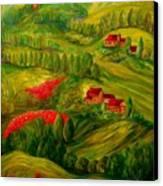 Tuscany At Dawn Canvas Print by Eloise Schneider