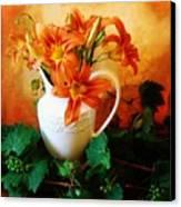 Tuscany Bouquet Canvas Print by Marsha Heiken