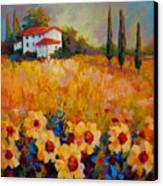 Tuscany Sunflowers Canvas Print by Marion Rose