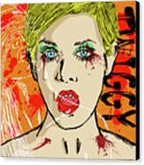 Twiggy Got Jealous Canvas Print by Sean King